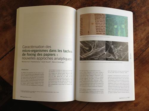 Support Tracé N°11 : la superbe revue annuelle de l'ARSAG (208 pages) consacrée à la conservation et la restauration des arts graphiques.