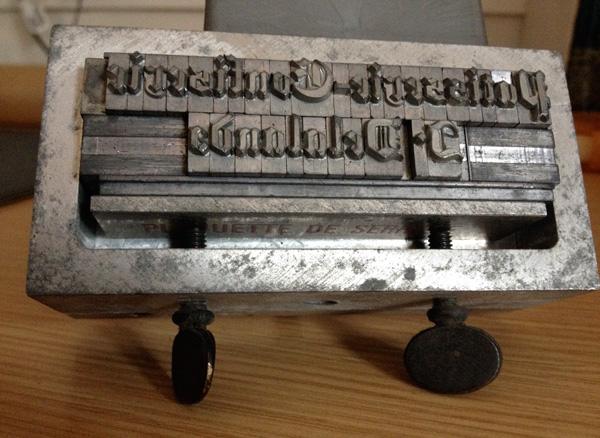 Composteur typographique de la Regina Tiflex