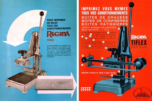 à gauche notre plaquette (années 60) à droite plaquette des années 80.