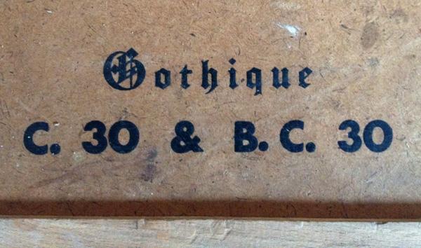 couvercle de la Casse Typographique