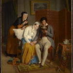 Jean-Augustin Franquelin, Reading to the Convalescent (1827)