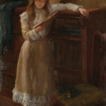 George Elgar Hicks (1824-1914), A Young Girl Reading