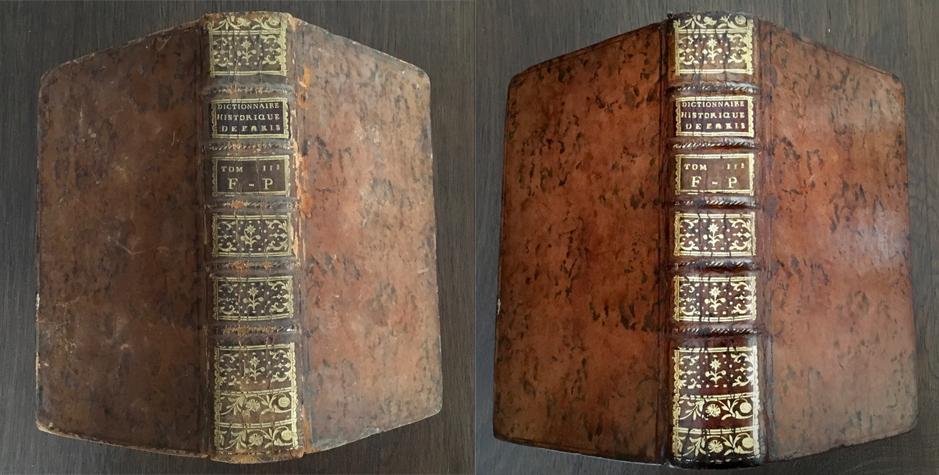 nettoyer un livre en cuir